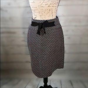 Loft cute work feminine girly polka dotted tweed